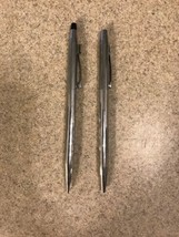 Cross Silver Made in USA Ballpoint Pen and Pencil As Is - $6.99