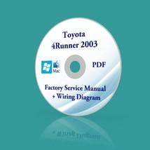 Toyota 4Runner 2003 Factory Service Manual FSM + Wiring Diagrams Dealer PDF CD - $10.77