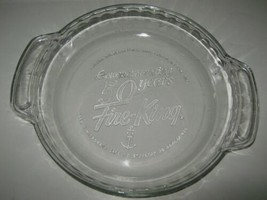"1992 FIRE KING 50TH ANNIVERSARY 9"" Pie Dish/Plate Dish Commemorative EUC - $7.91"