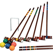Top Quality New Vintage Wooden Croquet Set with Carry Bag, Intermediate - $48.93