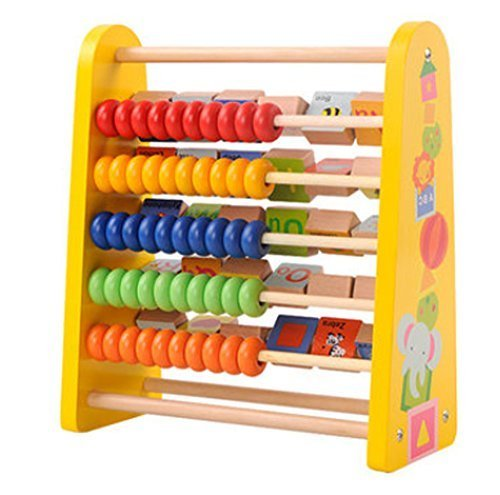 Multifunctional Babies' Learning Education Recognition Wooden Computation Frame