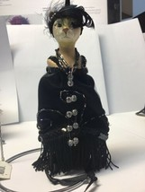 "Katherine's Collection flapper cat ornament Candy Bag 7"" Black Wayne Kle... - $44.99"