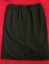 Talbots Stretch Womens Black Skirt Sz 10 Solid Classic Straight Career Wool - $17.95