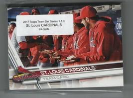 2017 Topps St. Louis CARDINALS Team Set Both Series 1 & 2 (24) - $3.00