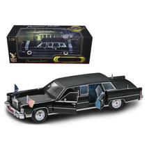 1972 Lincoln Continental Reagan Limousine Black 1/24 Diecast Model Car by Roa... - $97.85