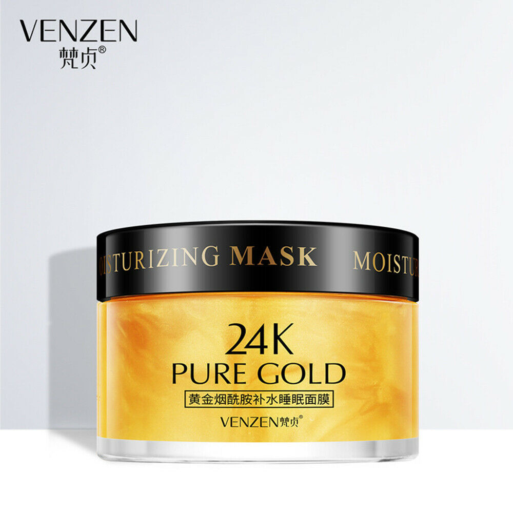 Primary image for VENZEN Essence 24K Pure Gold Niacinamide Hydrating Mask Luxury Effect Skin 120g