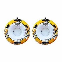 MRT SUPPLY Blade 2 Rider Inflatable Boat Towable Water Ski Tube (2 Pack)... - $404.74