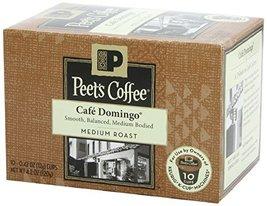 Peet's Coffee, Single Serve K-Cups, Cafe Domingo, 10 Count, 4.2oz Box (P... - $32.85