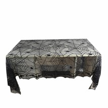 1 Lace Black Spider Web Halloween Tablecloth Table Cover Rectangle 240*1... - $15.66