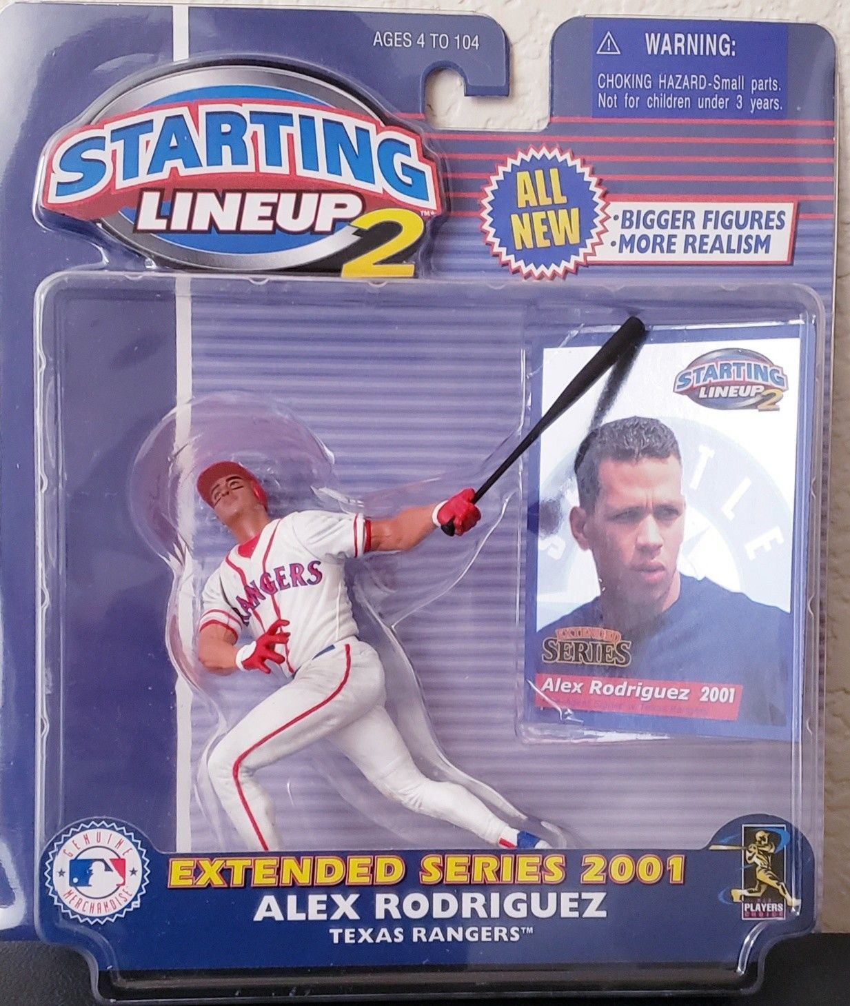 2001 Starting Lineup 2 Extended Series Alex Rodriguez Texas Rangers MLB Figure - $5.64