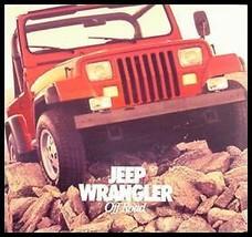 1986 Jeep Wrangler Prestige Brochure. Laredo - $8.98
