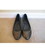 Kork-Ease Black Leather With Bronze Studs Ballet Flats For Women Size 9.5 Eur 41 - $18.99
