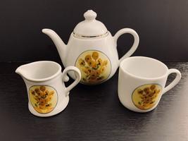 Reutter Porzellan Vincent Van Gogh Individual Mini Floral Teapot, Creame... - $24.95