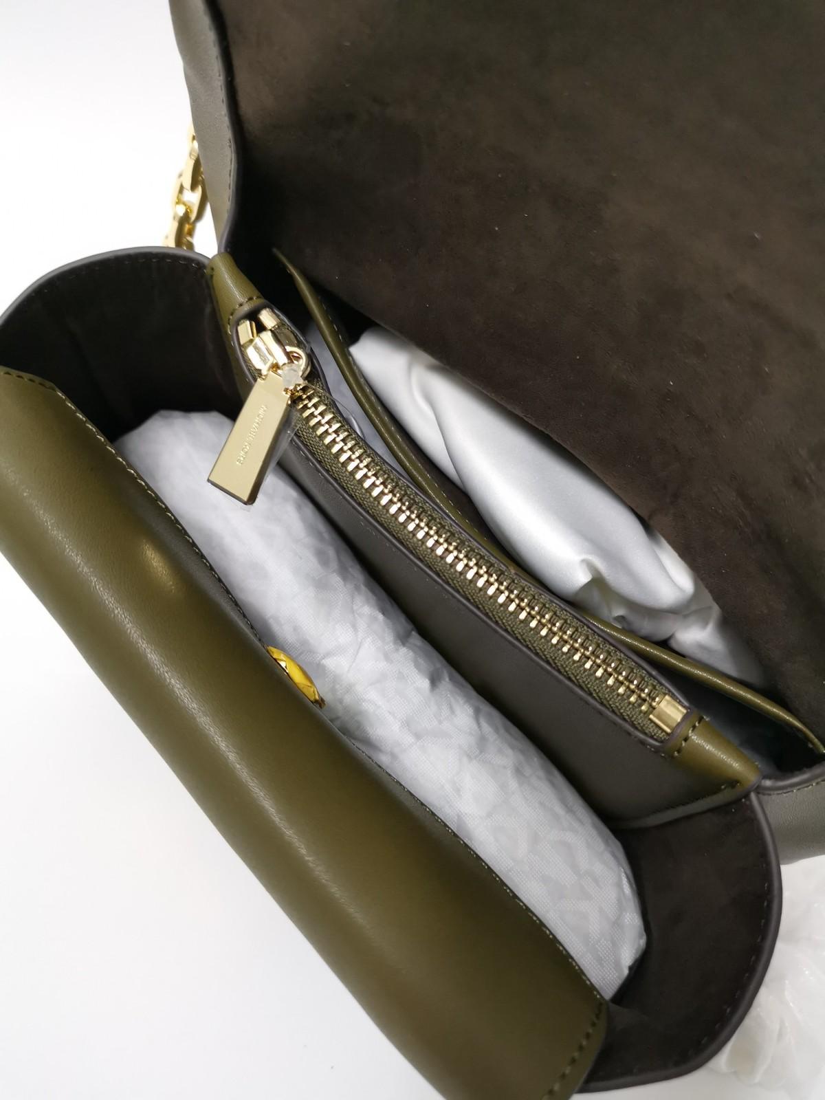 Michael Kors Cece Studded Leather Chain Shoulder Bag Oliver Auth