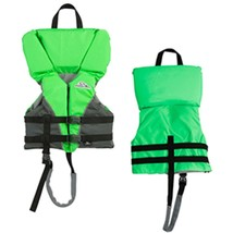 Stearns Heads-Up® Child Nylon Vest Life Jacket - 30-50lbs - Green - $43.15
