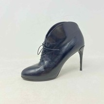 Gucci 36 Kim Lace Up Curved Ankle Booties Black Made in Italy - $95.52