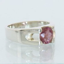 Natural Red Purple Spinel Handmade 925 Silver Unisex Ladies Gents Ring size 6.75 - £57.59 GBP