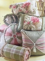 McCalls Sewing Pattern 4410 Square Round Bolster Pillows New Home Decor - $16.79
