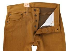 NEW LEVI'S 501 MEN'S ORIGINAL FIT STRAIGHT LEG JEANS BUTTON FLY ORANGE 501-1679 image 2