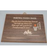Vintage Basketball Player's Prayer Wall Hanging - $9.89