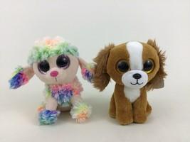 "Ty Beanie Boos Lot 6"" Rainbow The Dog and 6"" Tala VelveTy Plush Stuffed ... - $11.83"