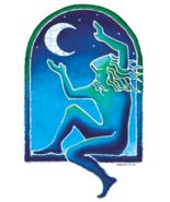 Moon Catcher Batik Sticker Deadhead  Car Decal Wicca Hippie  - $5.49