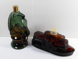Lot of 2 AVON Wild country Aftershave Ches Horse & Dolly Steamboat bottles - $16.83