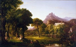 Thomas Cole - Dream of Arcadia - 24x32 inch Canvas Wall Art Home Decor - $51.99