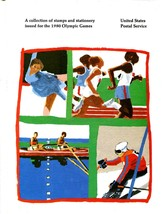 USPS Collection of Stamps & Stationery for 1980 Olympic Games BOOK & STAMPS - $15.00
