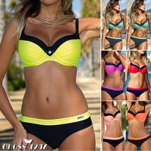 NEW Women's Padded Push-up Bra Bikini Set Swimsuit Swimwear Summer Bathing Suit image 2