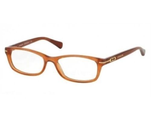 Authentic Coach Eyeglasses HC6054F 5251 Elise Milky Saddle Frame 54MM Rx-ABLE