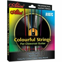 Colorful Classical Guitar Strings Colorful Nylon Coated Copper Alloy Gui... - $8.37