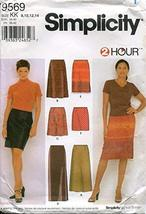 Simplicity Pattern 9569 Misses' Skirts in Three Lengths, KK (8-14) - $10.88