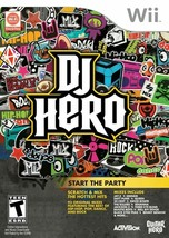 DJ HERO - Game for Nintendo Wii (93 Original Mixes) Complete -Free Shipping - $8.86