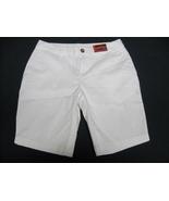 NWT-Faded Glory Chino Bermuda Shorts - White - Sz 4 - Cotton/Spandex - $13.49