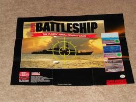 Super Battleship Super Nintendo Poster MINT CONDITION SNES Super NES - $1.57