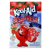 Kool-Aid Besa-Fresa/ Stawberry Drink Mix 15g (10 Pack) Ex. Flavor from Mex. - $14.84