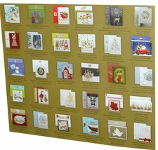 30 Hand Crafted Christmas Cards with Matching Self Seal Envelopes & Seals image 2