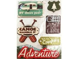GCD Studios Dimensional Camping/Adventure Chipboard Stickers