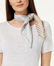 Echo Dotty Silk Square Bandana Scarf (Gray/Multi) - $51.19