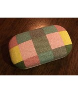 CONTACT LENS CASE Lenses Eye Checkered Plaid Pinks Blues GREENS #76 - $8.86