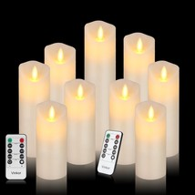 Set of 9 Vinkor Flameless Candles Led Candles Set of 9(H 4  5  6  7  8  ... - $35.99