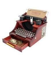 Wind up Music Box Vintage Look Music Box with Jewelry Box - Table Desk D... - $23.58