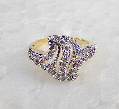 Indian American Diamante Fashion Jewelry Bollywood Party wear Ring Golden fg3