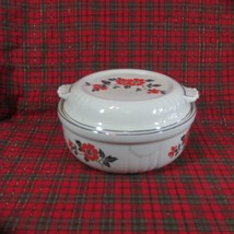 """Vintage Hall Red Poppy Radiance Casserole with Lid 8"""" Diameter - $26.17"""