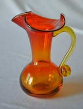Rainbow Art Glass Ambrina Pitcher #507 - $11.88