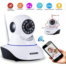 Sacam HD 720p Wireless WiFi IP Security Camera with Remote Viewing CCTV ... - $37.50