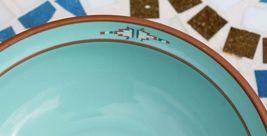Noritake Stoneware Japan Dinner Plate & Cereal Soup Bowl Boulder Ridge Turquoise image 12