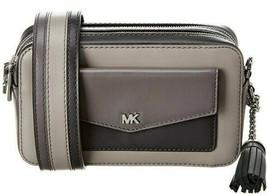 Michael Kors Ginny NEW Shades Of Grey Camera Crossbody Bag Small Zip Top - $118.14
