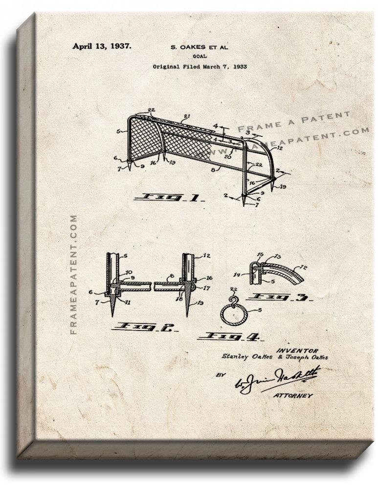 Goal Patent Print Old Look on Canvas - $39.95 - $159.95
